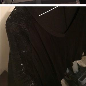 Tops - Black sequin top